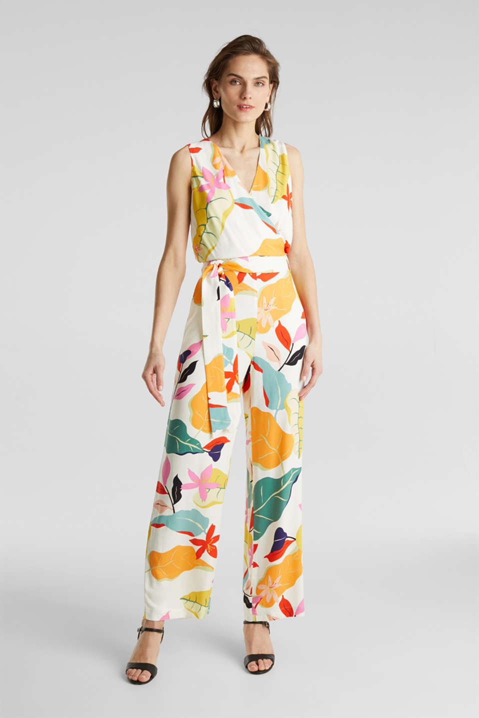 Jumpsuit made of LENZING™ ECOVERO™, OFF WHITE 4, detail image number 1