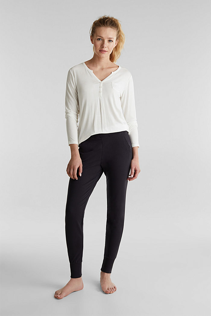 Sweat-Pants aus glattem Jersey, NAVY, detail image number 0