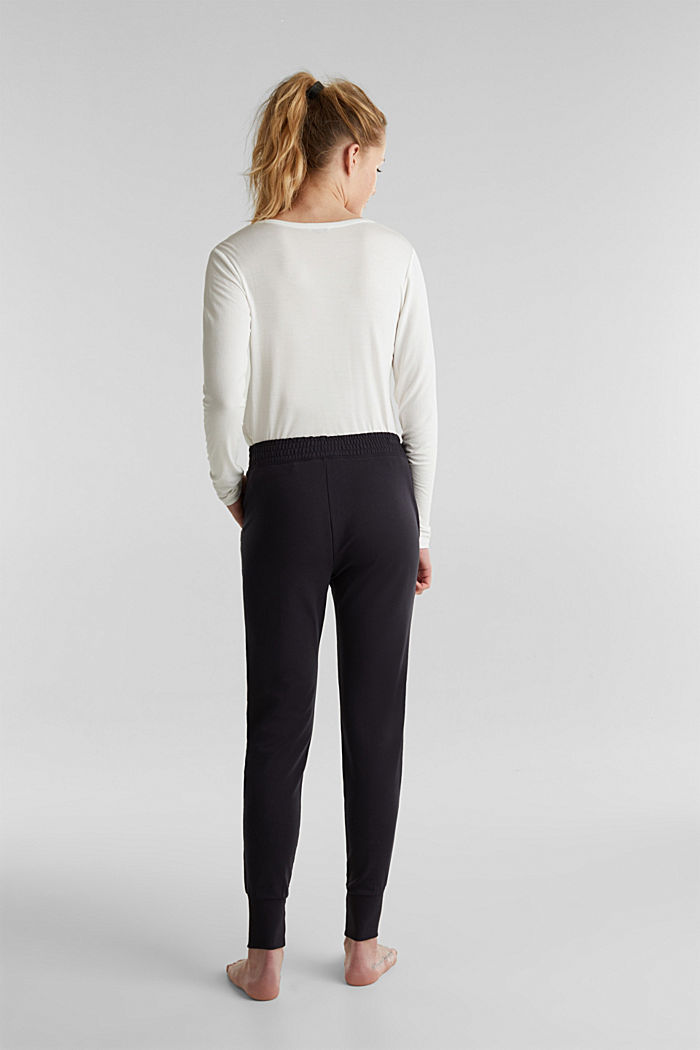 Sweat-Pants aus glattem Jersey, NAVY, detail image number 3