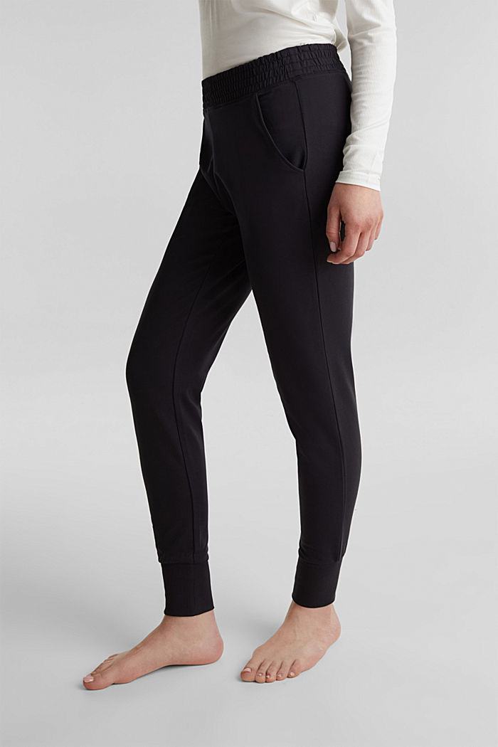 Sweat-Pants aus glattem Jersey, NAVY, detail image number 5