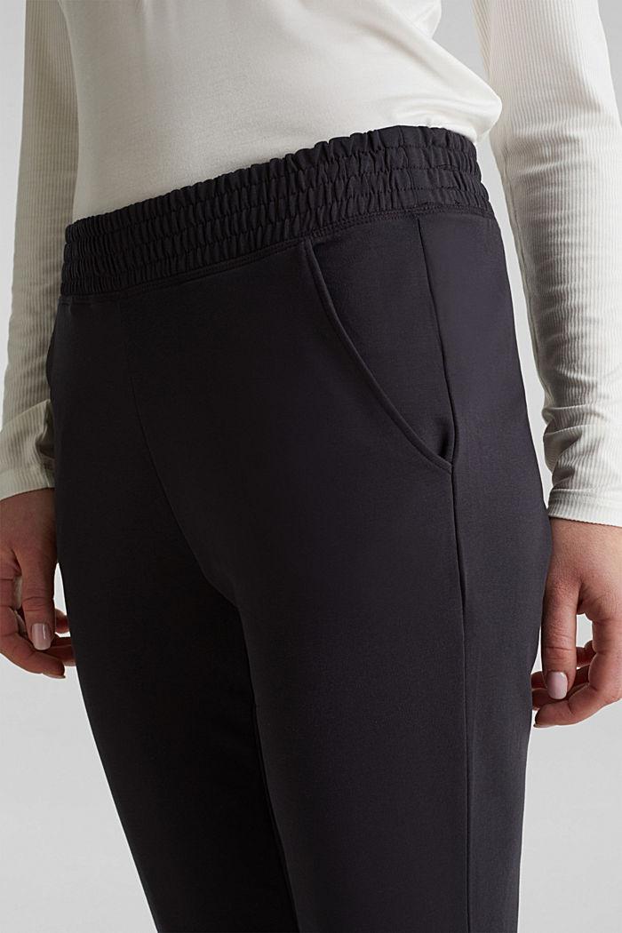 Sweat-Pants aus glattem Jersey, NAVY, detail image number 2