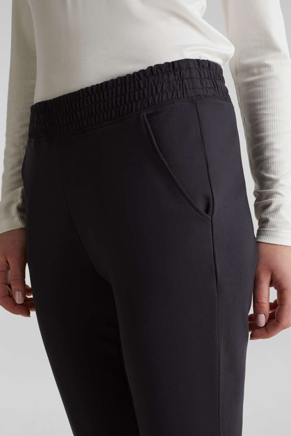 Tracksuit bottoms in smooth jersey, NAVY, detail image number 2