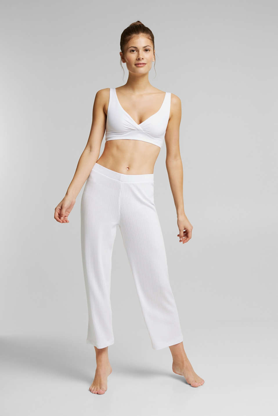 Culottes made of LENZING™ ECOVERO™, WHITE, detail image number 0