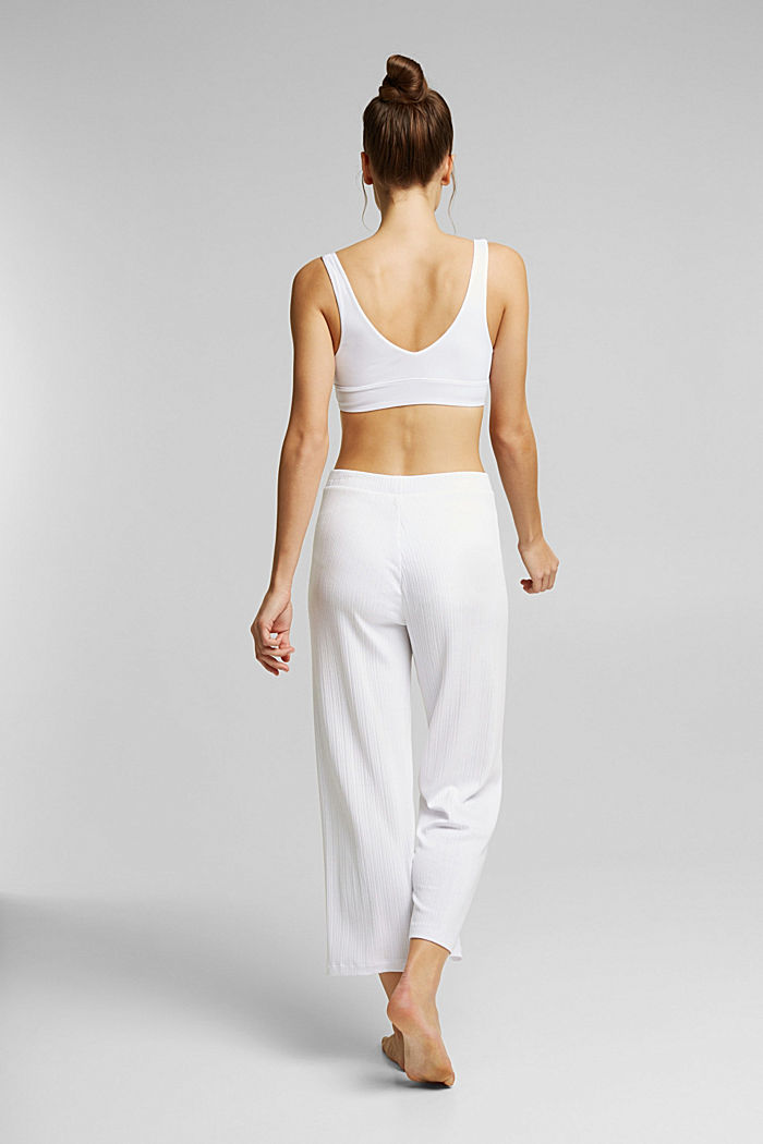 Culottes made of LENZING™ ECOVERO™, WHITE, detail image number 3