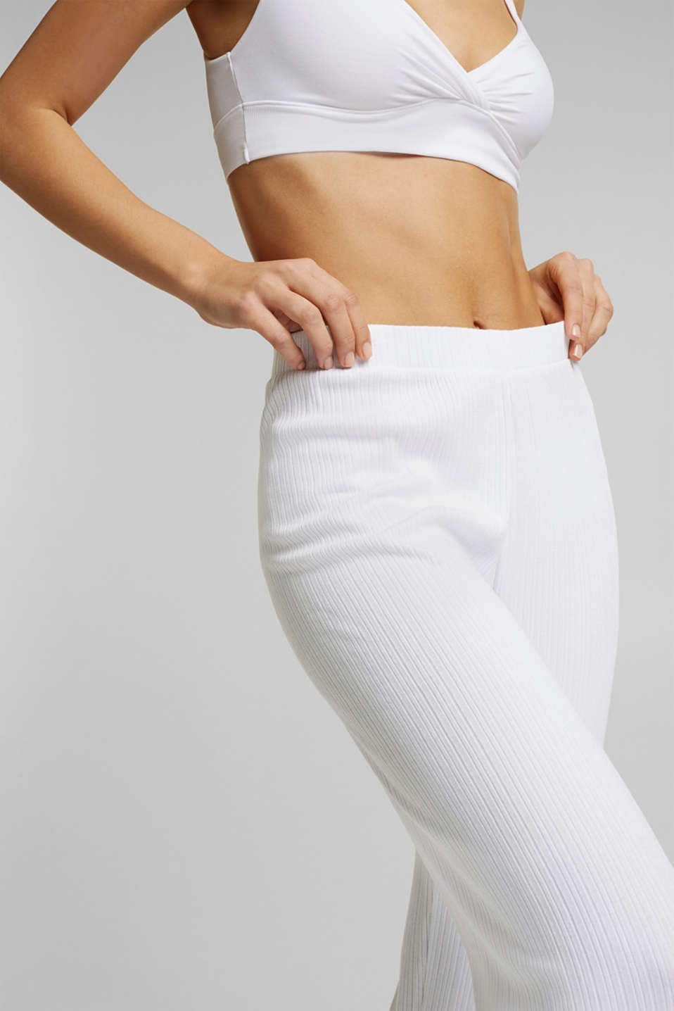 Culottes made of LENZING™ ECOVERO™, WHITE, detail image number 2