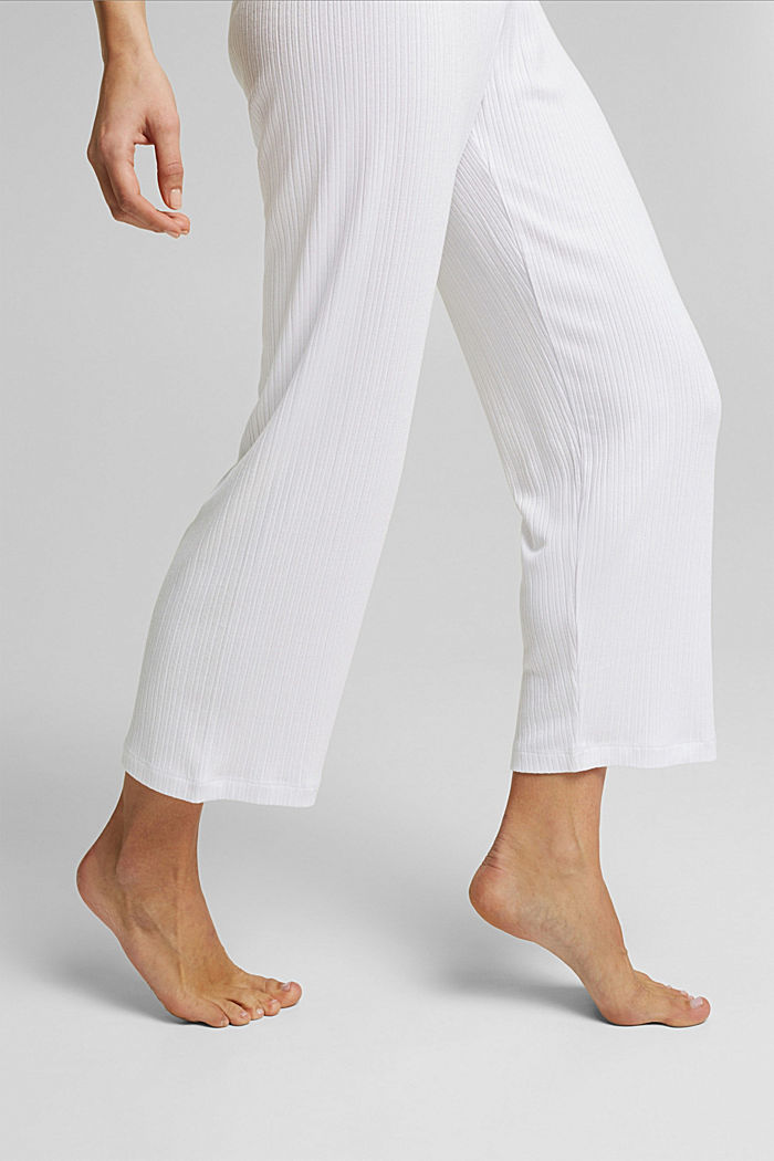 Culottes made of LENZING™ ECOVERO™, WHITE, detail image number 4