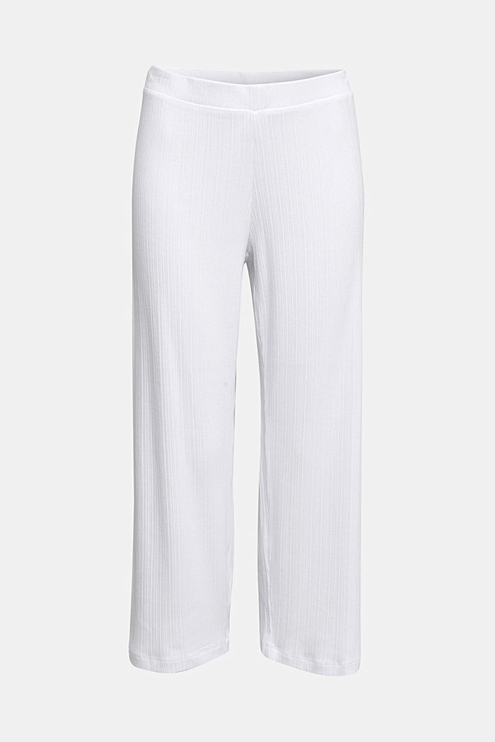 Culottes made of LENZING™ ECOVERO™, WHITE, detail image number 5