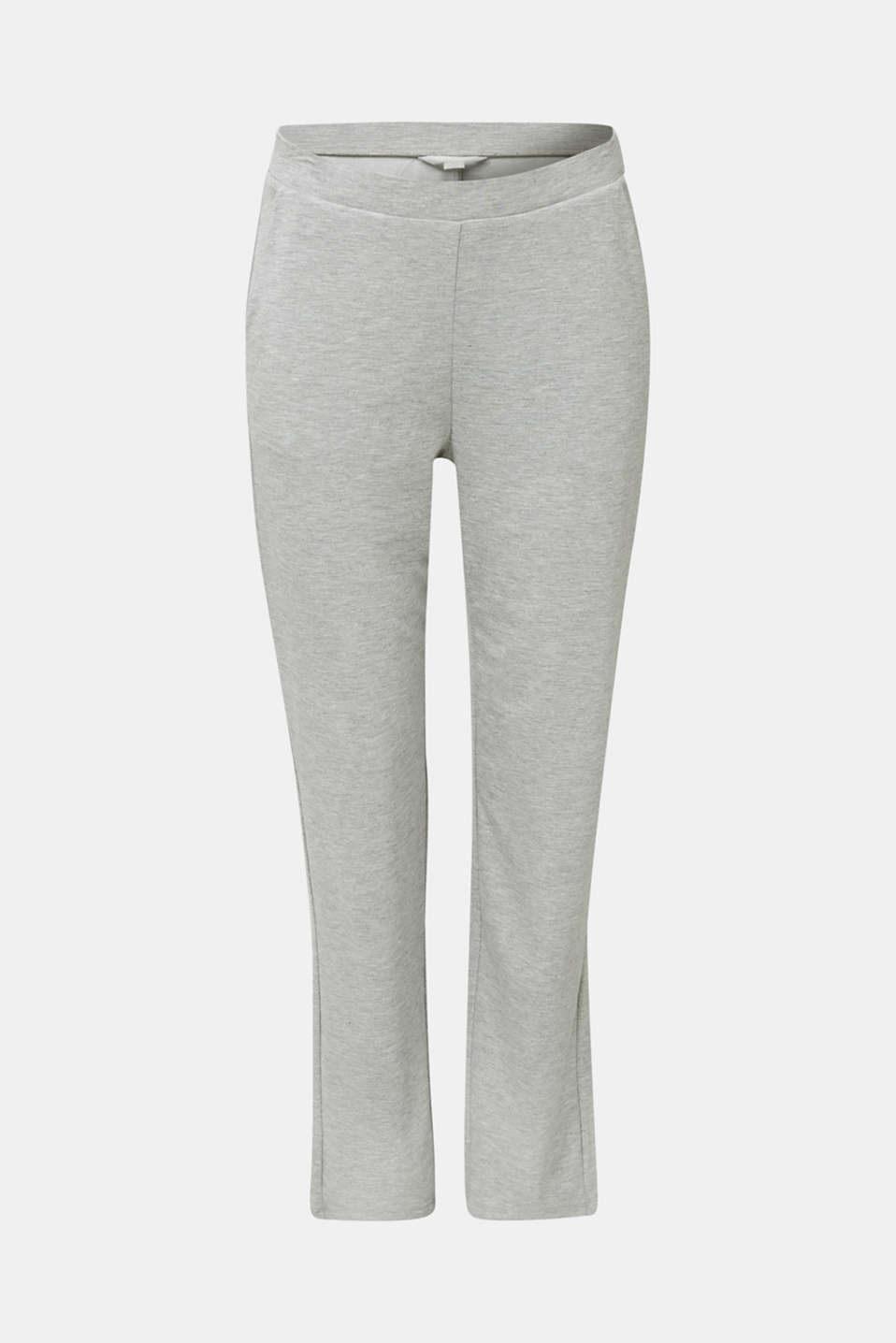 Containing LENZING™ ECOVERO™: jersey trousers, PASTEL GREY, detail image number 6