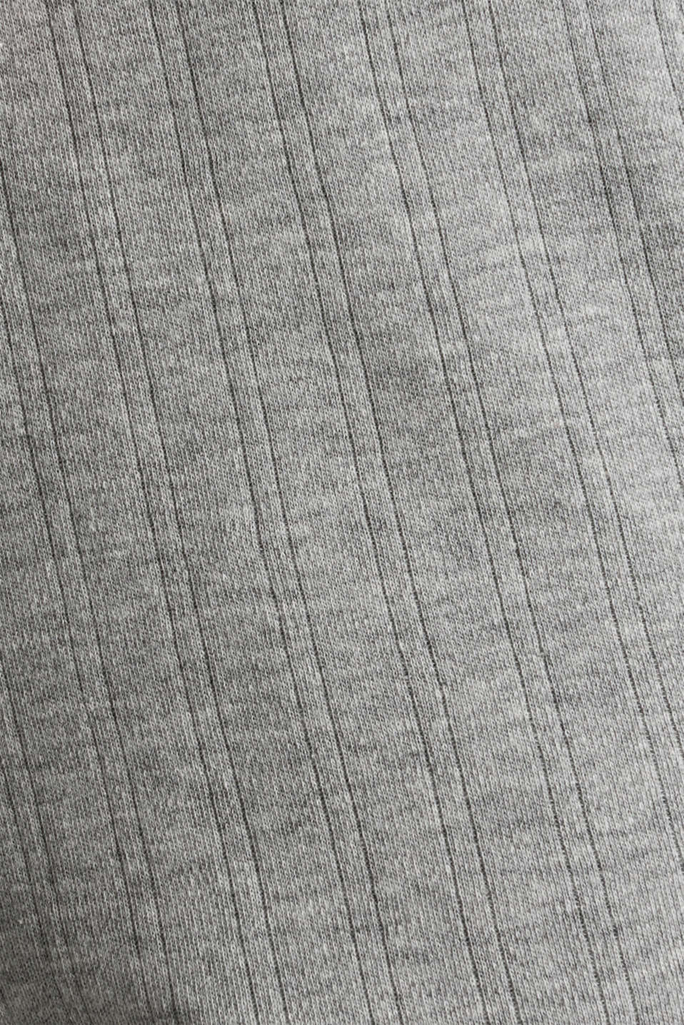 Jersey shorts with a ribbed texture, PASTEL GREY, detail image number 4