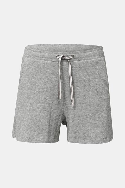 Jersey-Shorts mit Ripp-Struktur