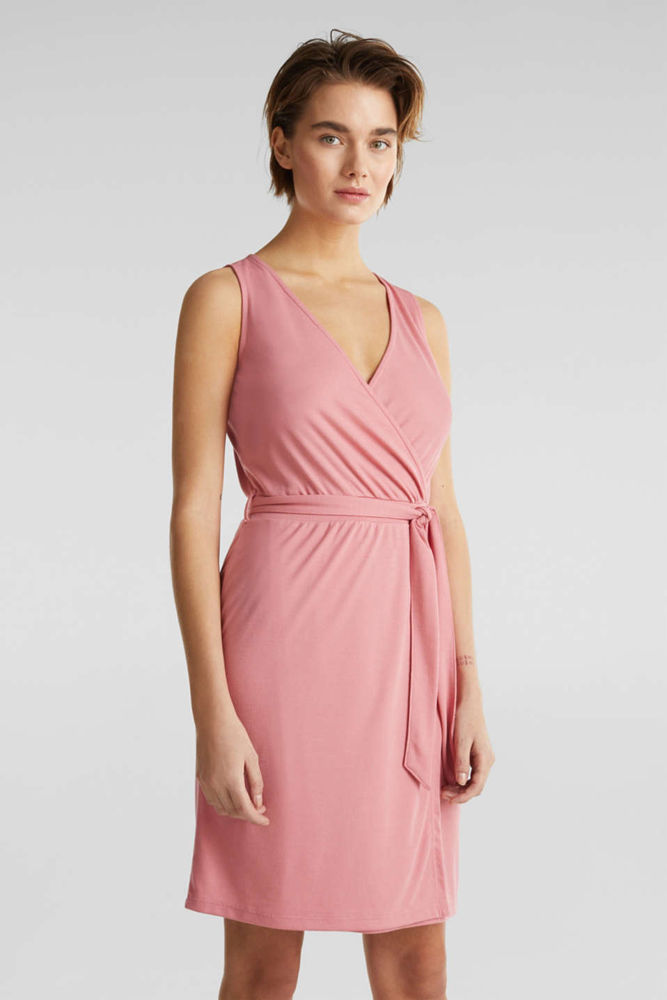 Esprit - Modal/TENCEL™ blend: Wrap dress