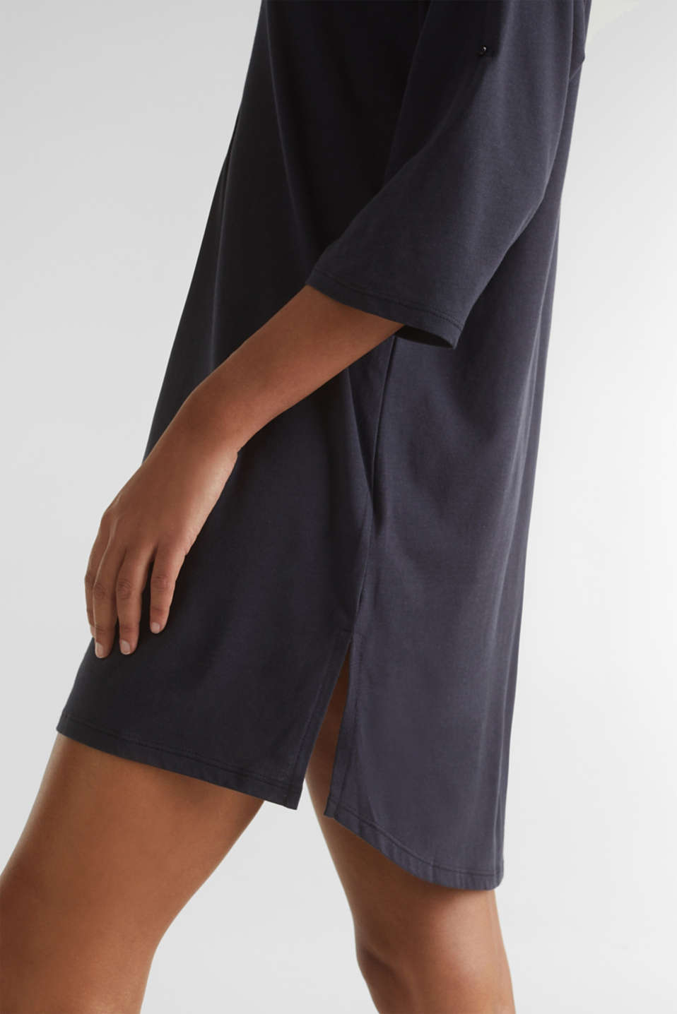 Tunic top with turn-up sleeves, NAVY, detail image number 3