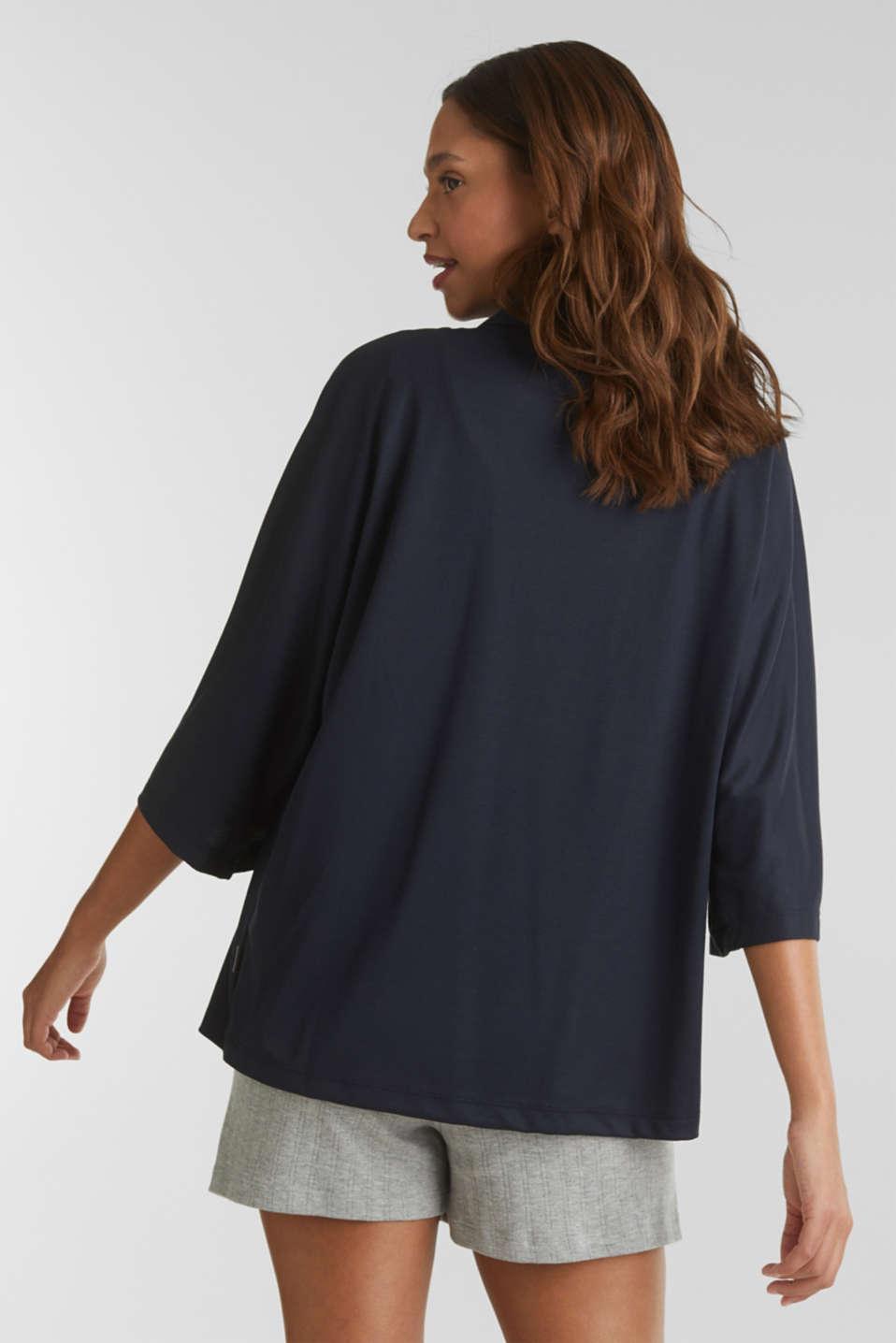 Made of TENCEL™/modal: jersey cardigan, NAVY, detail image number 3
