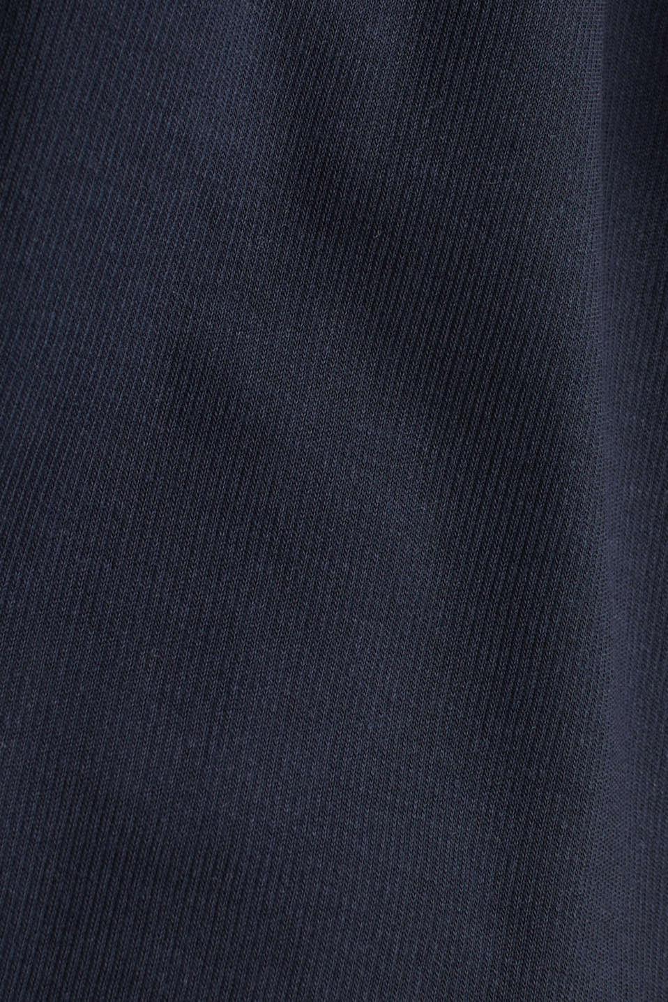 Made of TENCEL™/modal: jersey cardigan, NAVY, detail image number 4