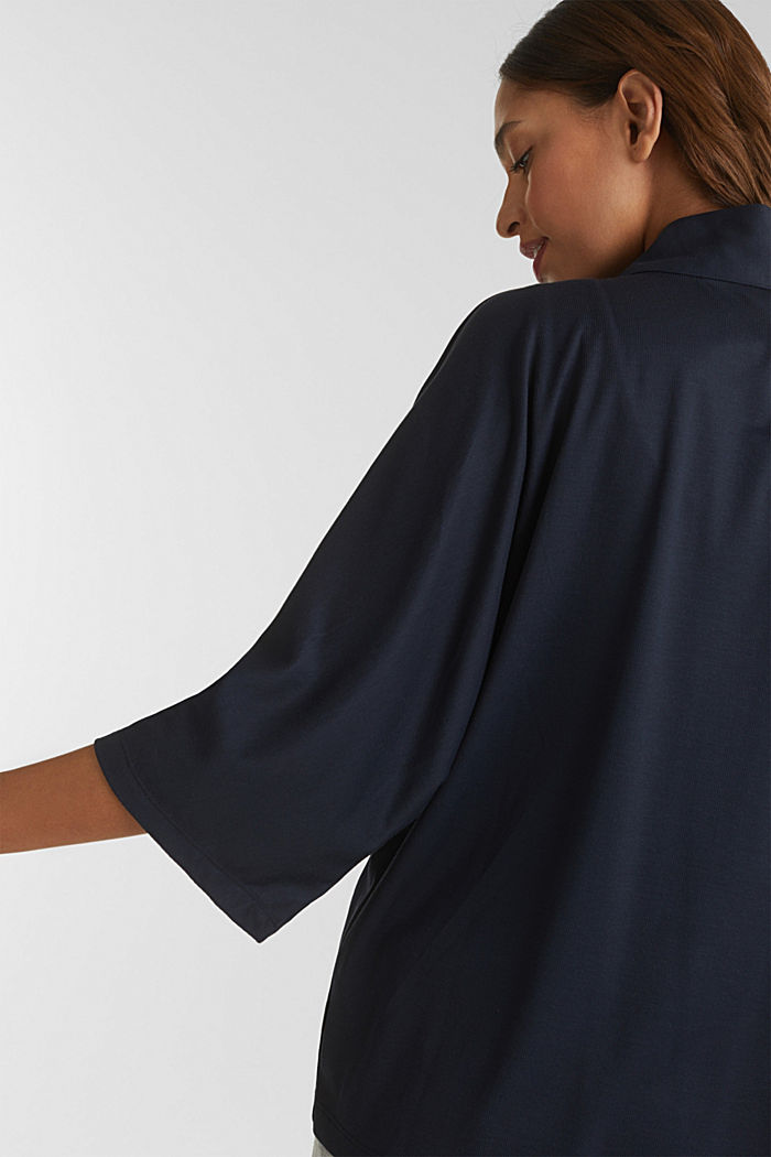 Made of TENCEL™/modal: jersey cardigan, NAVY, detail image number 5