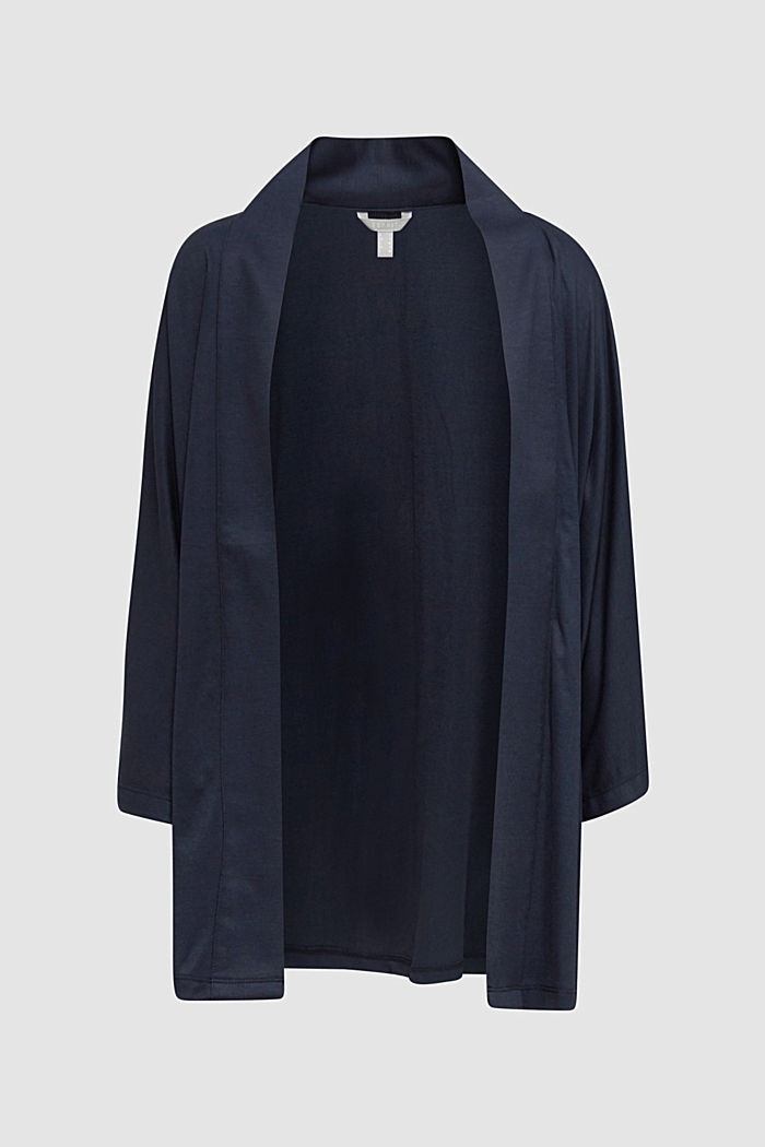 Made of TENCEL™/modal: jersey cardigan, NAVY, detail image number 6