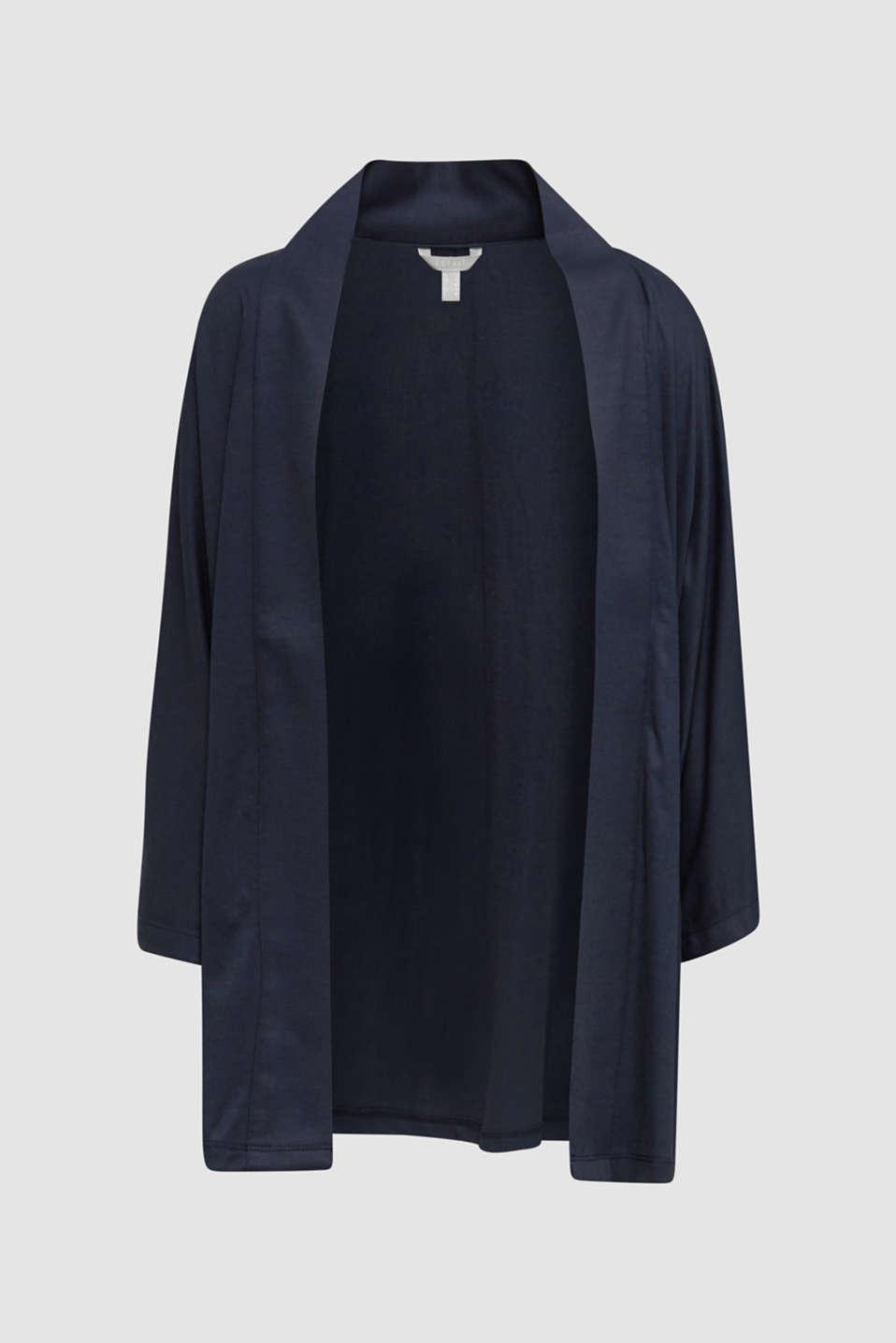 Made of TENCEL™/modal: jersey cardigan, NAVY, detail image number 6