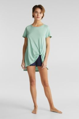 Long top with knot detail, DUSTY GREEN, detail