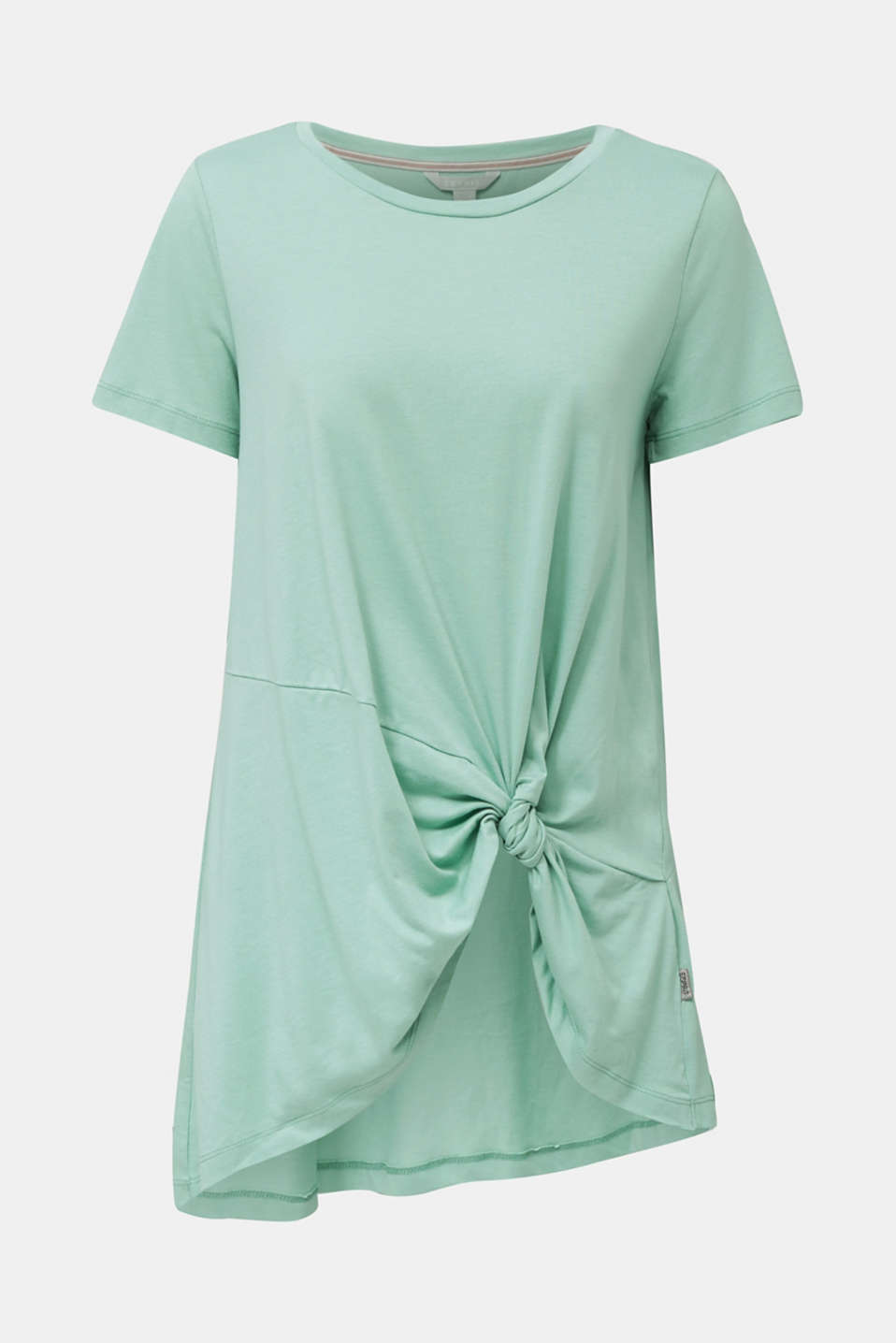 Long top with knot detail, DUSTY GREEN, detail image number 6