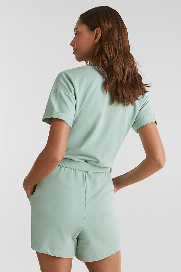 Wickel-Playsuit aus Sweat-Qualität, DUSTY GREEN, detail image number 2