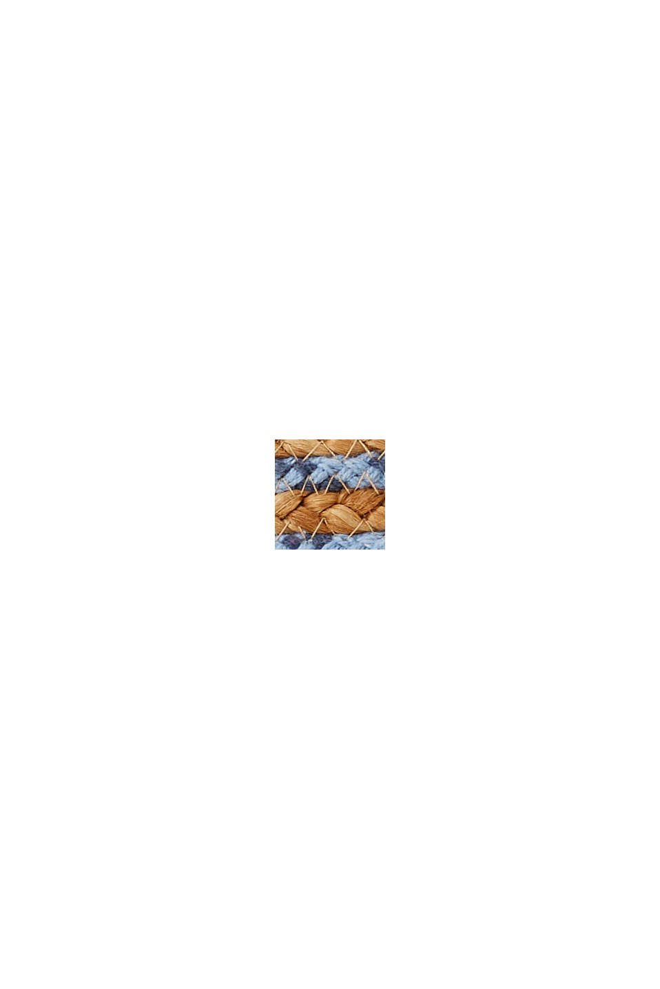 Fabrication main: cabas en jute, BLUE, swatch