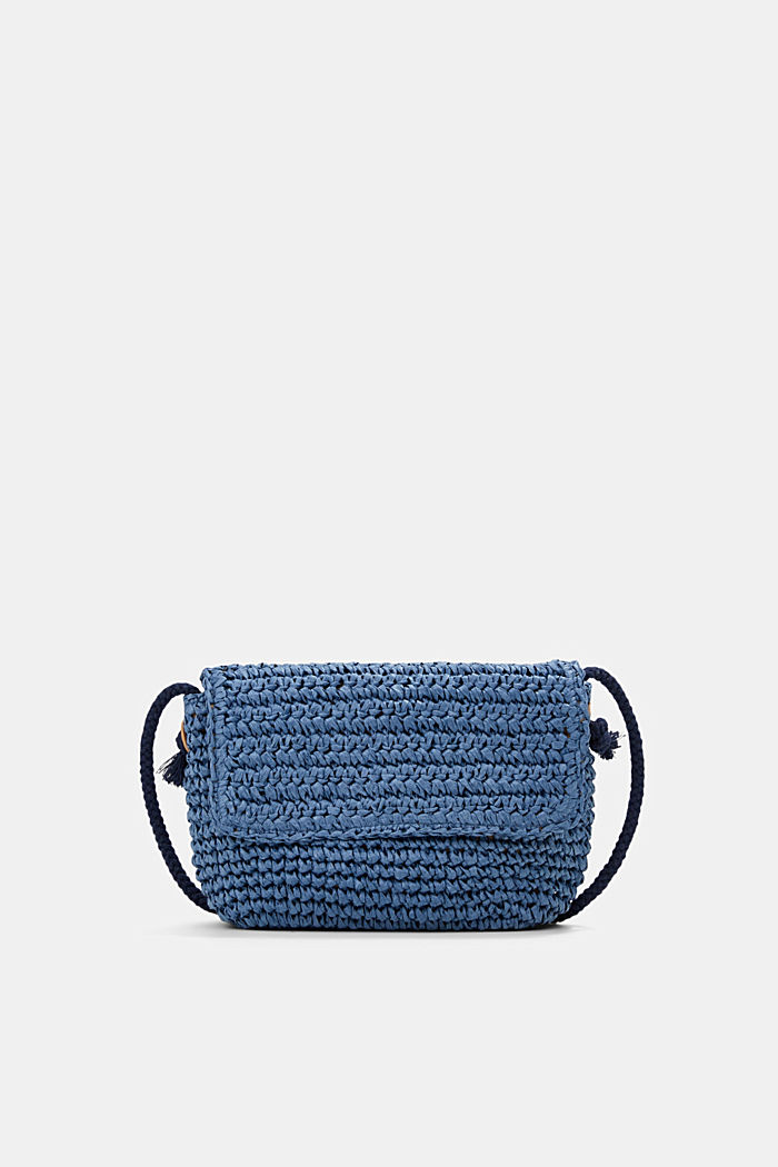 Shoulder bag made of FSC™-certified bast, BLUE, detail image number 0