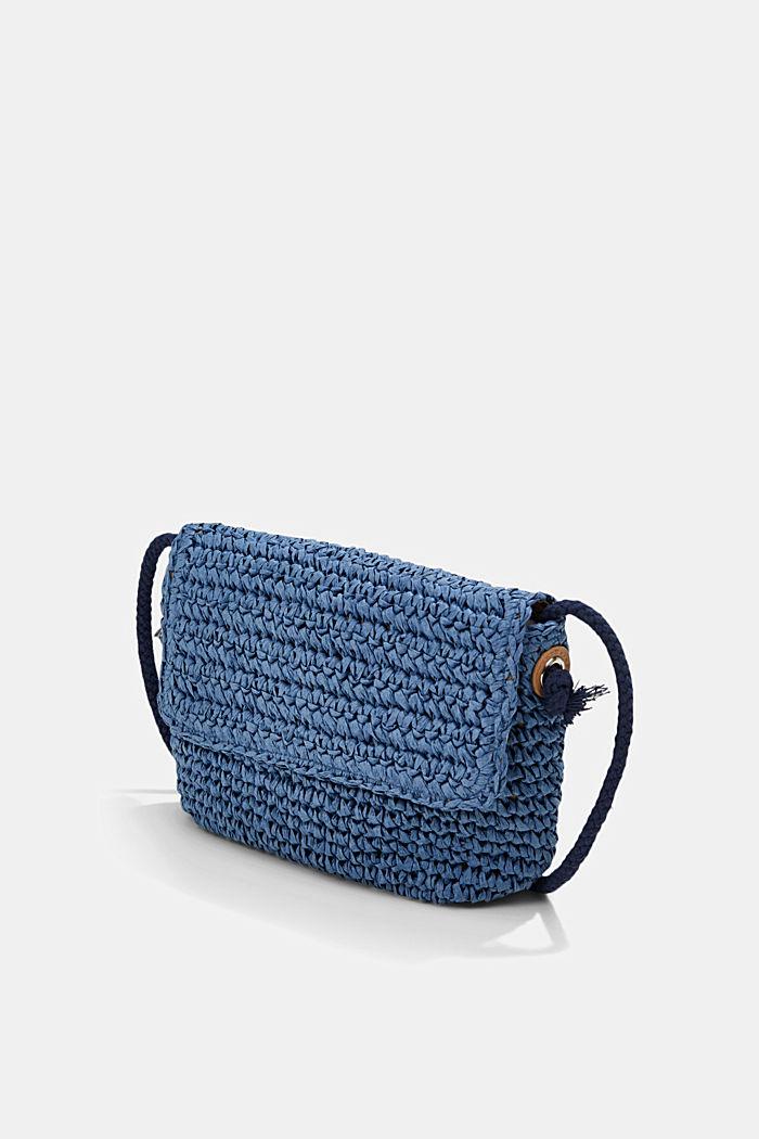 Shoulder bag made of FSC™-certified bast, BLUE, detail image number 2