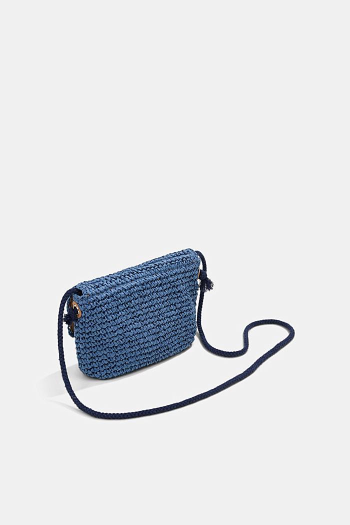 Shoulder bag made of FSC™-certified bast, BLUE, detail image number 5
