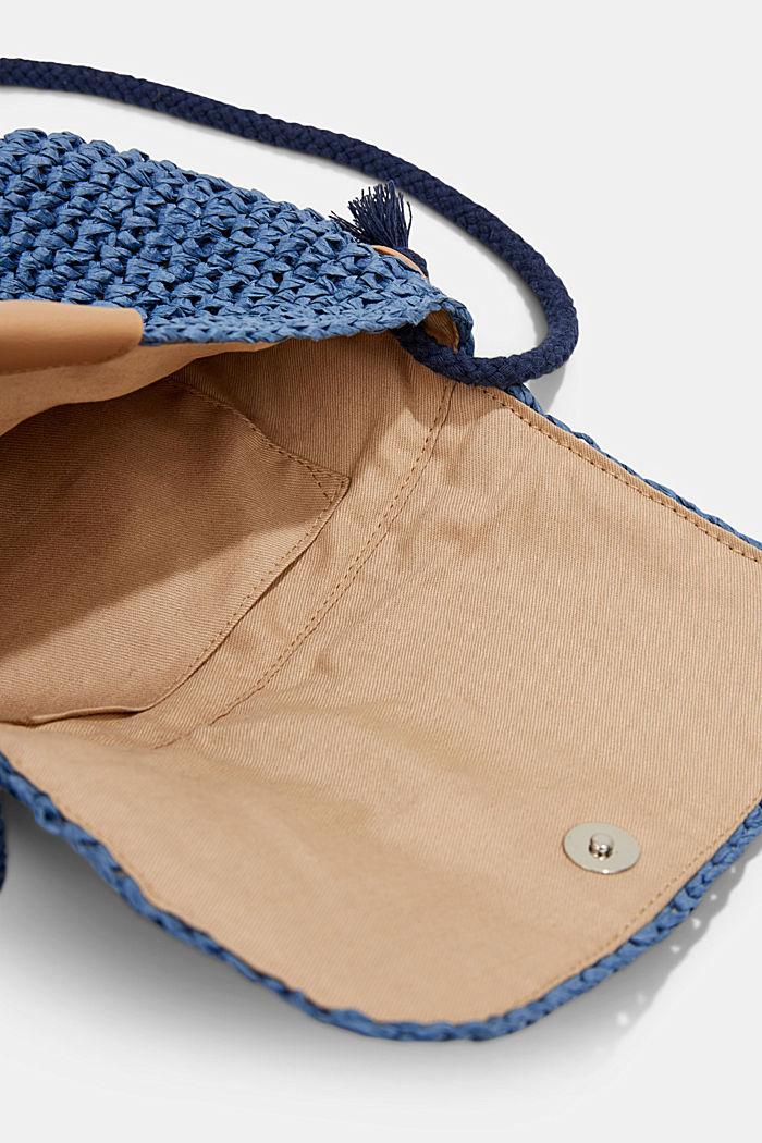 Shoulder bag made of FSC™-certified bast, BLUE, detail image number 4