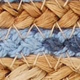 Clutch in a jute mix, BLUE, swatch