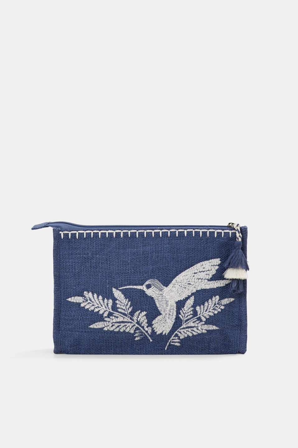 edc - Embroidered jute clutch