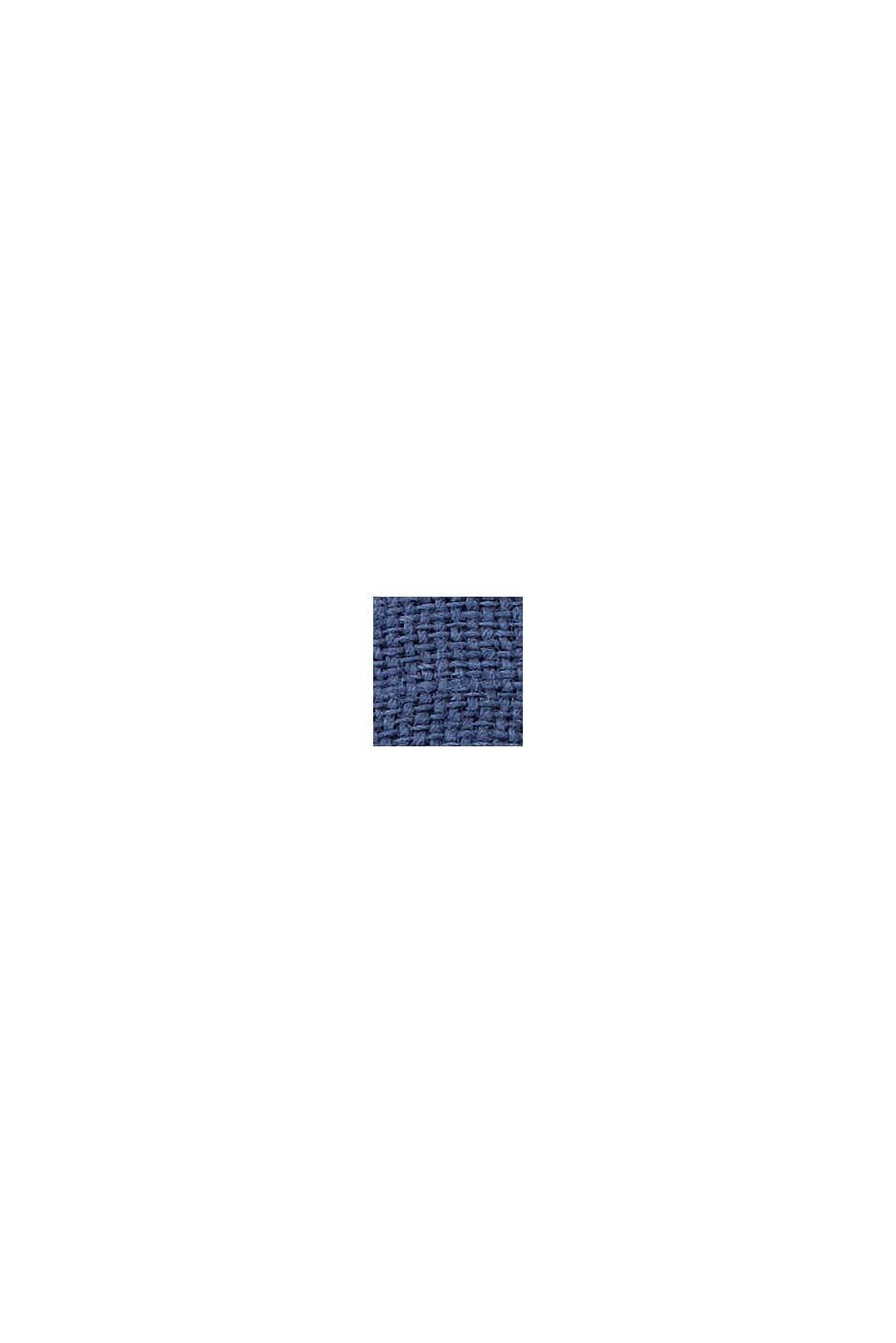 Clutch van jute met borduursel, BLUE, swatch