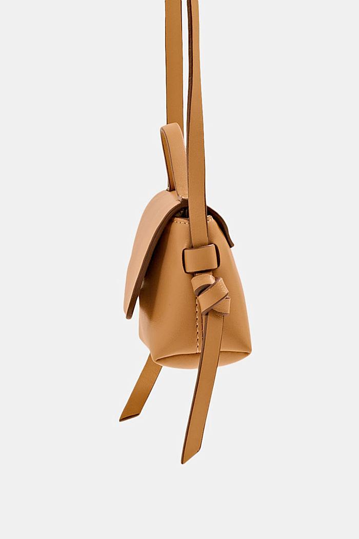 Veganistisch: mini-schoudertas, CAMEL, detail image number 3
