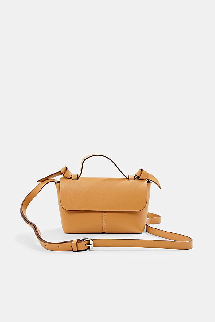 Vegan: small shoulder bag, CAMEL, detail image number 0