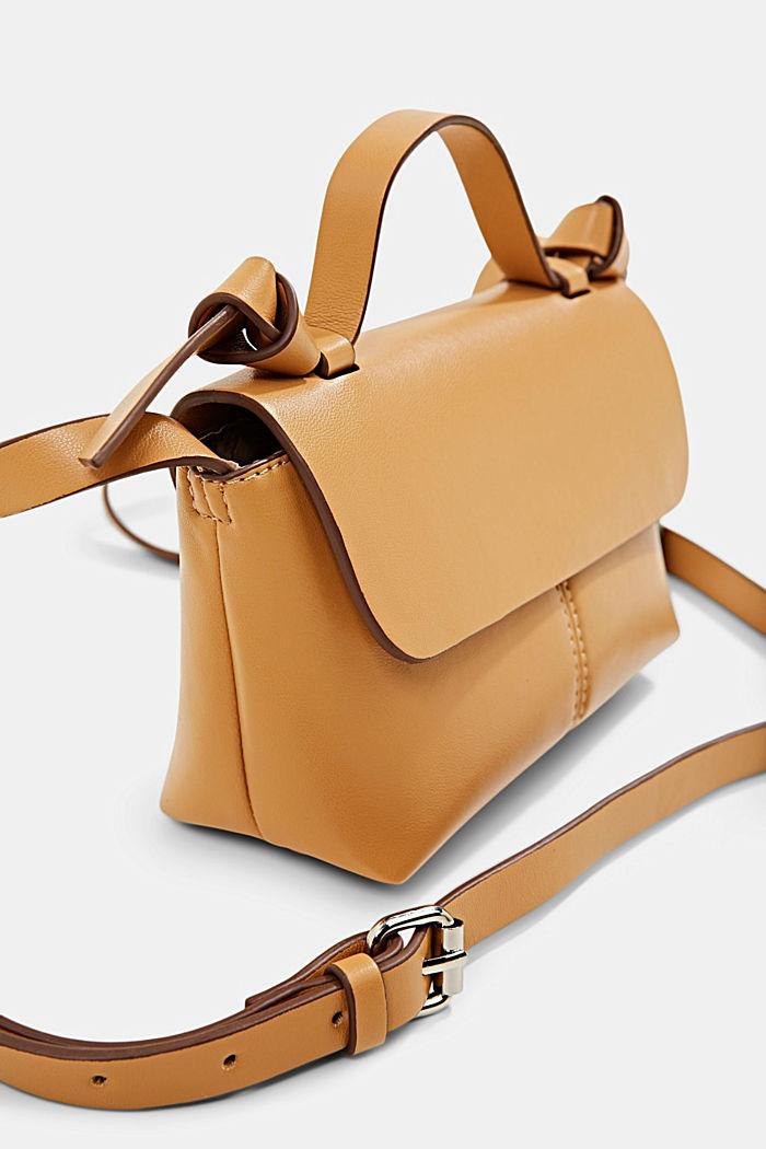 Vegan: small shoulder bag, CAMEL, detail image number 2