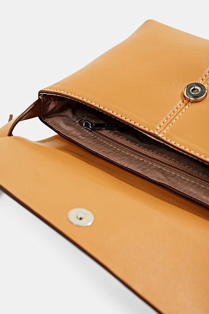 Vegan: small shoulder bag, CAMEL, detail image number 4