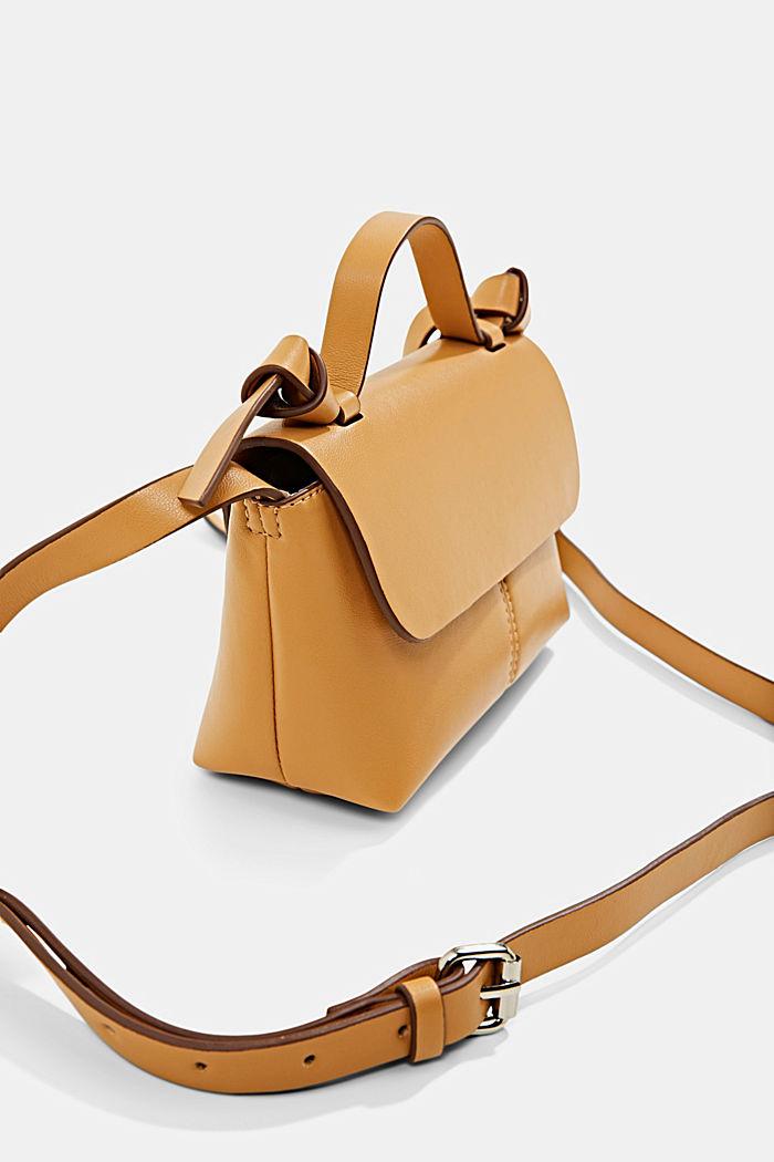 Vegan: small shoulder bag, CAMEL, detail image number 3
