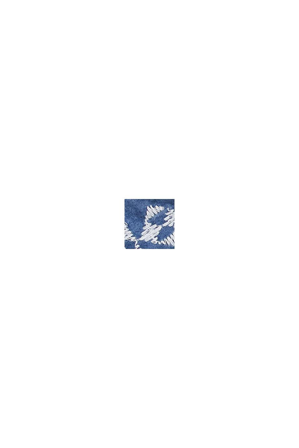 Foulard con ricamo, in 100% cotone biologico, LIGHT BLUE, swatch