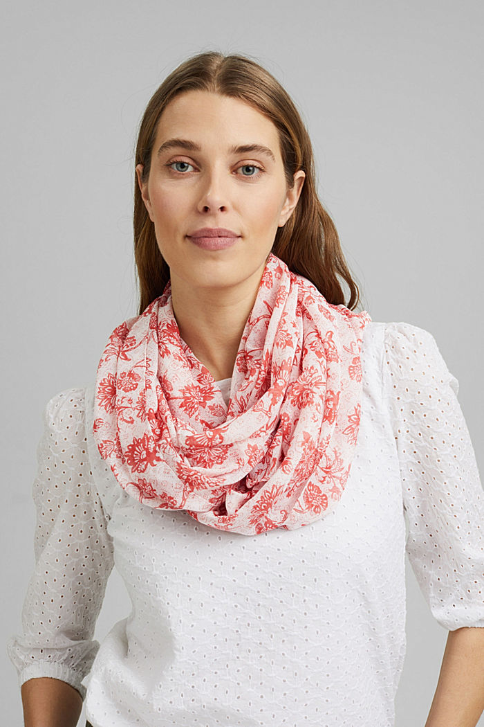 Recycled: patterned snood