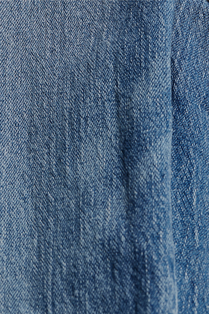 Stretchjeans van biologisch katoen, BLUE MEDIUM WASHED, detail image number 4