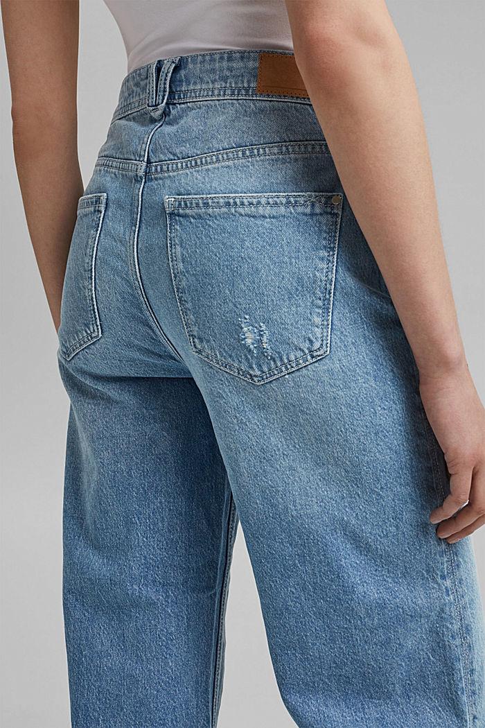 Denim culottes with vintage details, organic cotton, BLUE LIGHT WASHED, detail image number 2