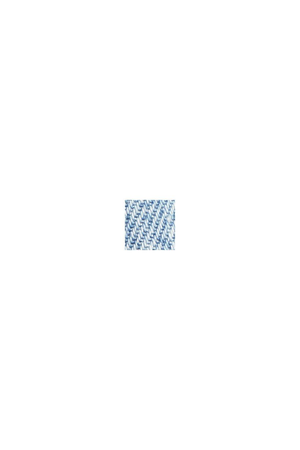 Jeansculottes med slitna detaljer, ekologisk bomull, BLUE LIGHT WASHED, swatch