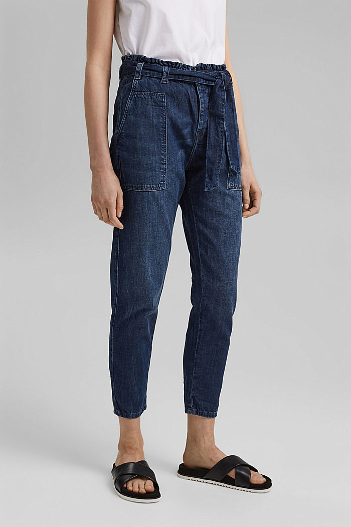 #ReimagineNaturalLifestyle: Paperbag-Jeans, BLUE MEDIUM WASHED, detail image number 0