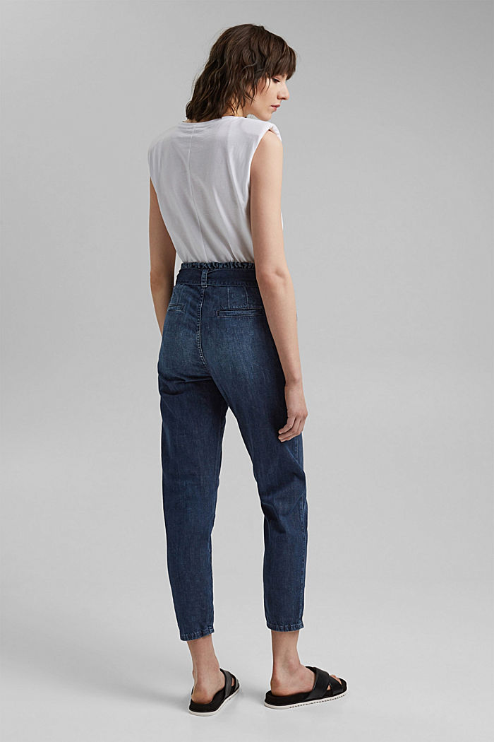 #ReimagineNaturalLifestyle: Paperbag-Jeans, BLUE MEDIUM WASHED, detail image number 3