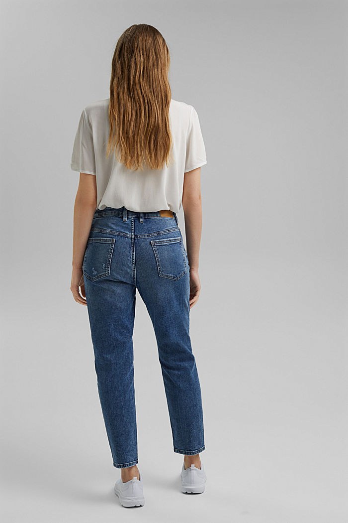 Stretch-Jeans aus Organic Cotton, BLUE MEDIUM WASHED, detail image number 3