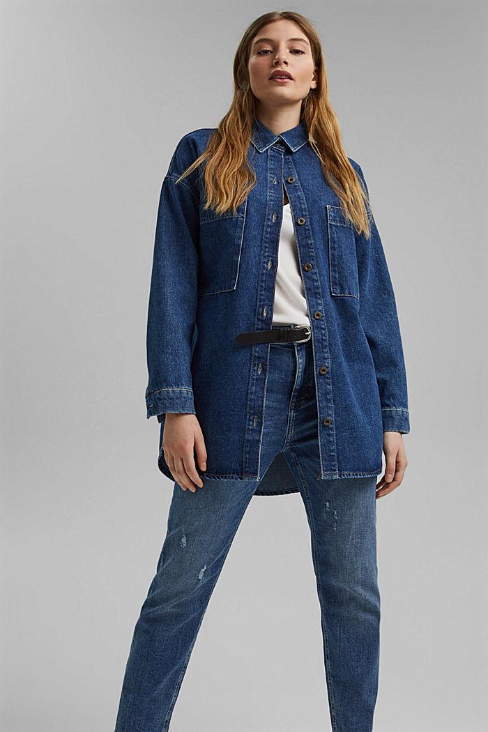 Stretch-Jeans aus Organic Cotton, BLUE MEDIUM WASHED, detail image number 6