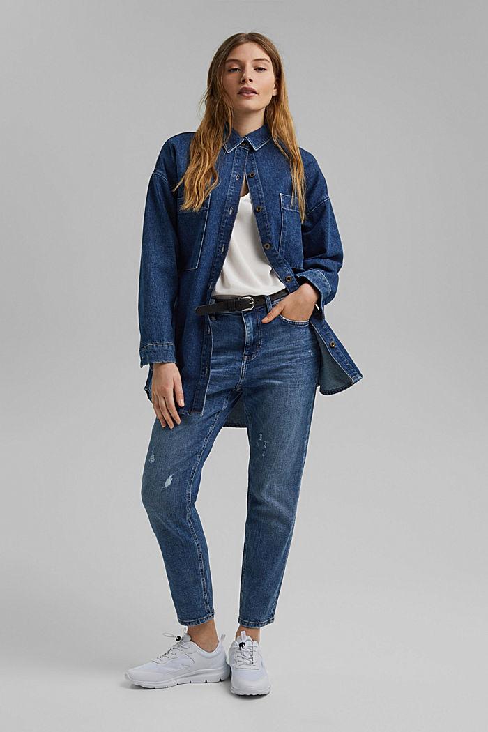 Stretch-Jeans aus Organic Cotton, BLUE MEDIUM WASHED, detail image number 1