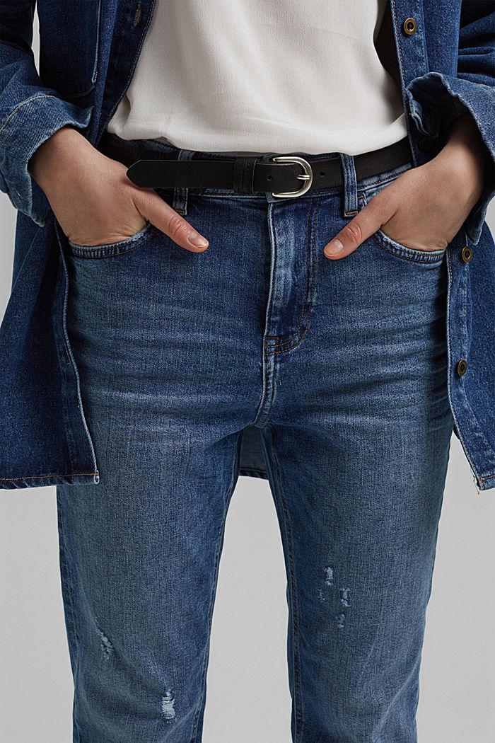Stretch-Jeans aus Organic Cotton, BLUE MEDIUM WASHED, detail image number 2