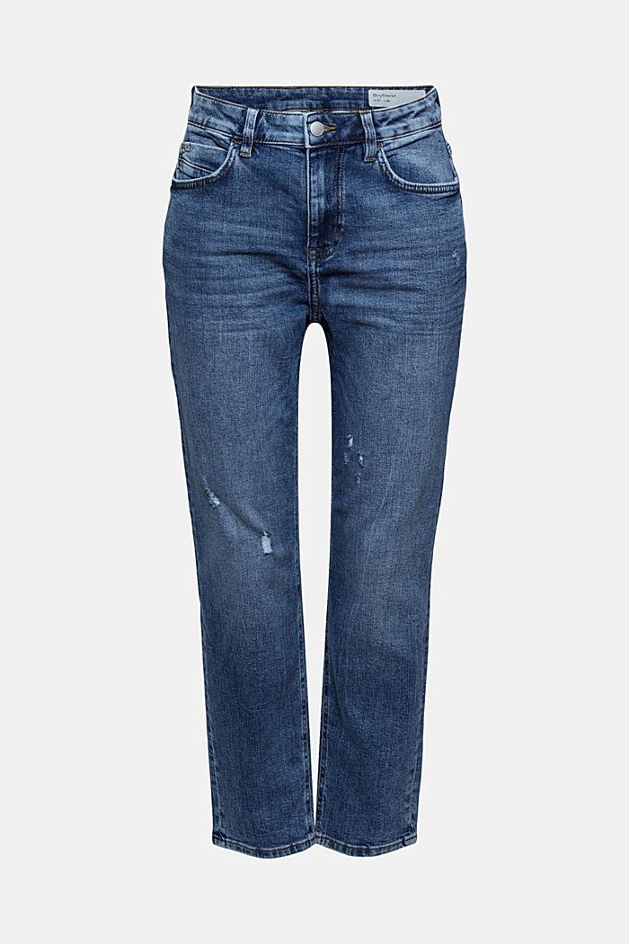 Stretch-Jeans aus Organic Cotton, BLUE MEDIUM WASHED, detail image number 7