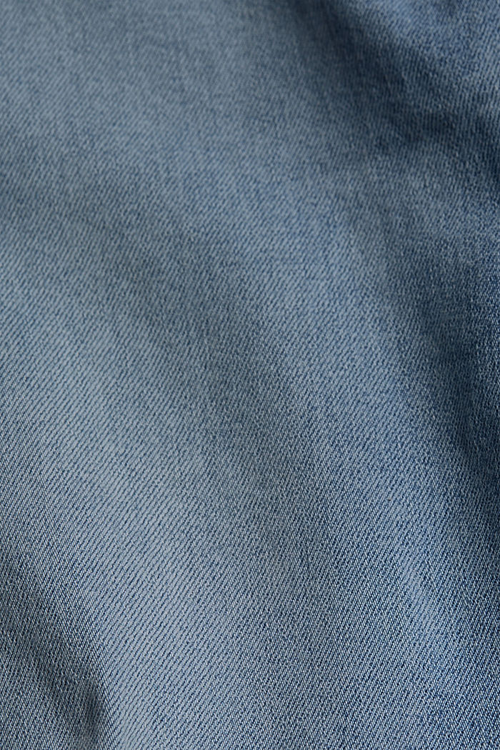 Stretch-Jeans aus Organic Cotton, BLUE LIGHT WASHED, detail image number 4